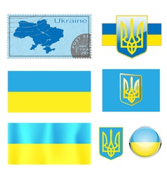 Ukraine set vector