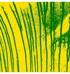 Texture yellow wall with green streaks stains vector