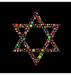Star of david shape vector
