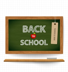 Welcome back to school with blackboard vector