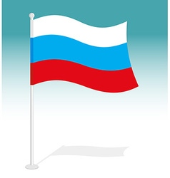 Flag of russia official national character of vector