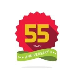 Years 55 anniversary label logo vector