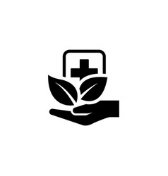 alternative medicine icon flat design vector image vector image
