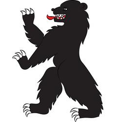 bear black rampant vector image vector image