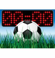 beginning soccer game vector image vector image