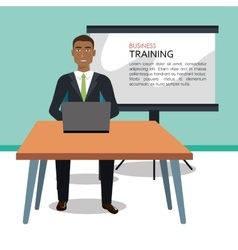 Businessman training processisolated icon design vector