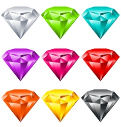 Colorful shiny jewels vector