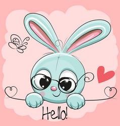 Cute drawing rabbit vector