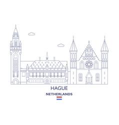 Hague city skyline vector