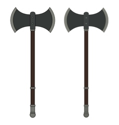 Medieval executioner double-sided ax vector image vector image