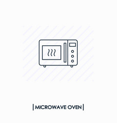 microwave oven outline icon isolated vector image vector image
