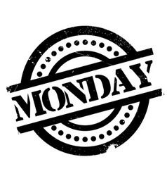 Monday rubber stamp vector