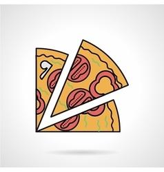 Pizza slice flat color icon vector image vector image