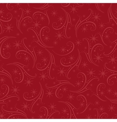 Romantic christmas seamless background vector image vector image