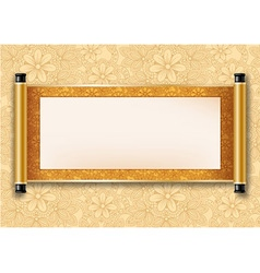 Scroll golden vector