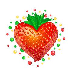 Sweet strawberry heart vector