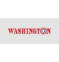 Washington city name with flag colors vector image vector image
