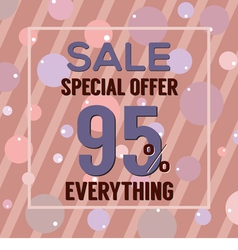 Special offer 95 percent on dark pink bubbles vector
