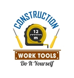 Construction and repairs work tools icon vector image