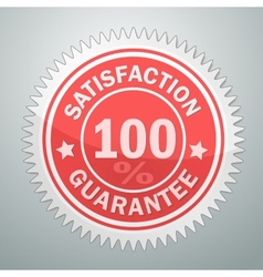 Badge of satisfaction guarantee vector