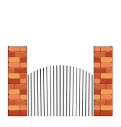 Bricks castle tower wall stone vector