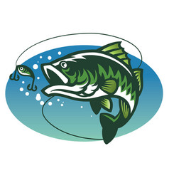 largemouth bass fish mascot vector image