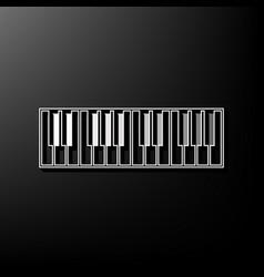 Piano keyboard sign gray 3d printed icon vector