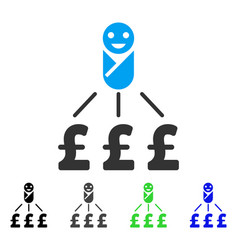 Newborn pound expenses flat icon vector