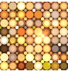 Abstract disco circles seamless pattern vector