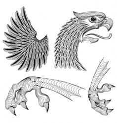 eagle ornaments vector image