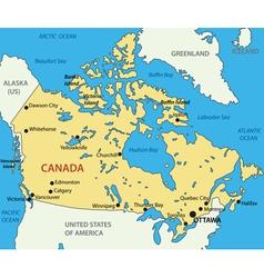 Canada - map vector