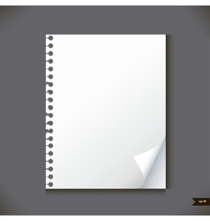 Empty paper sheet with place for your text vector