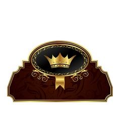 golden frame label for design packing vector image