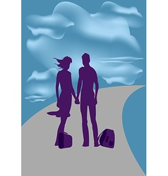Travel he and she vector