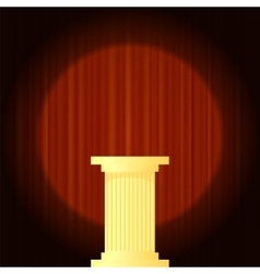 Yellow marble greek column vector