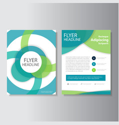Eco circle annual report leaflet brochure flyer vector