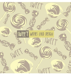 Vintage confectionery background vector