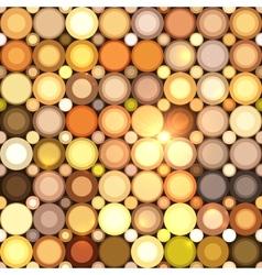 Abstract disco circles seamless pattern vector