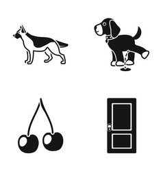 Animal cooking and or web icon in black style vector