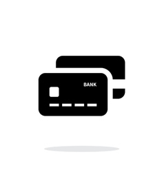 Bank credit cards icon on white background vector image vector image