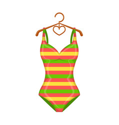 bright striped swimsuit in the colors of the vector image vector image