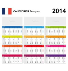 Calendar 2014 french type 19 vector