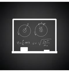 Classroom blackboard icon vector image vector image