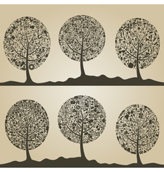 Collection of trees2 vector image