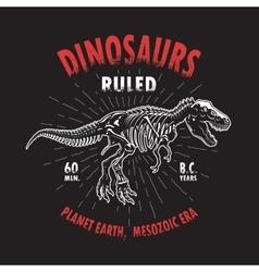 Dinosaur t-shirt print vector