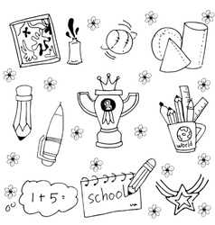 Doodle of element and tools education vector