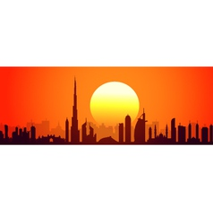 Dubai sunset vector