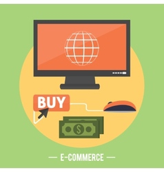E-commerce infographic concept of purchasing vector image vector image