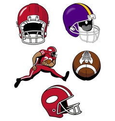 football equipment vector image vector image