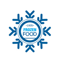 Frozen food since 1935 abstract label for vector